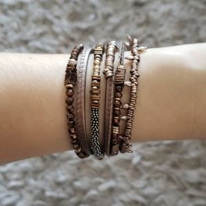 STELLA & DOT Bronze Jarne Coil Bracelet